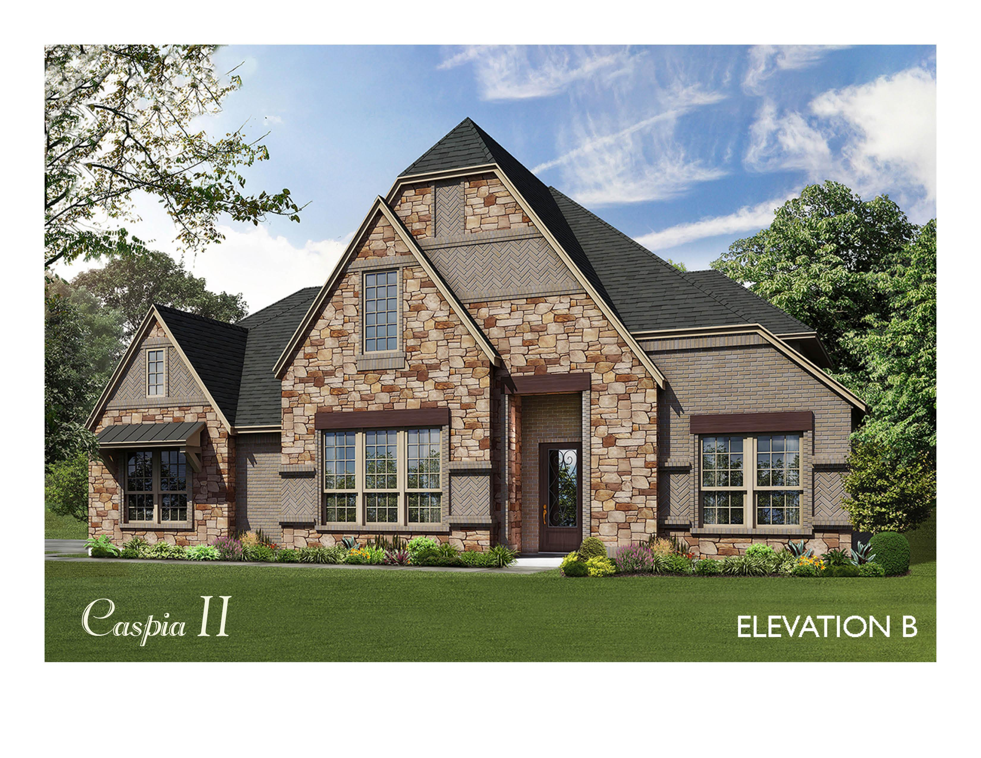 Exterior featured in the Caspia II By Bloomfield Homes in Dallas, TX