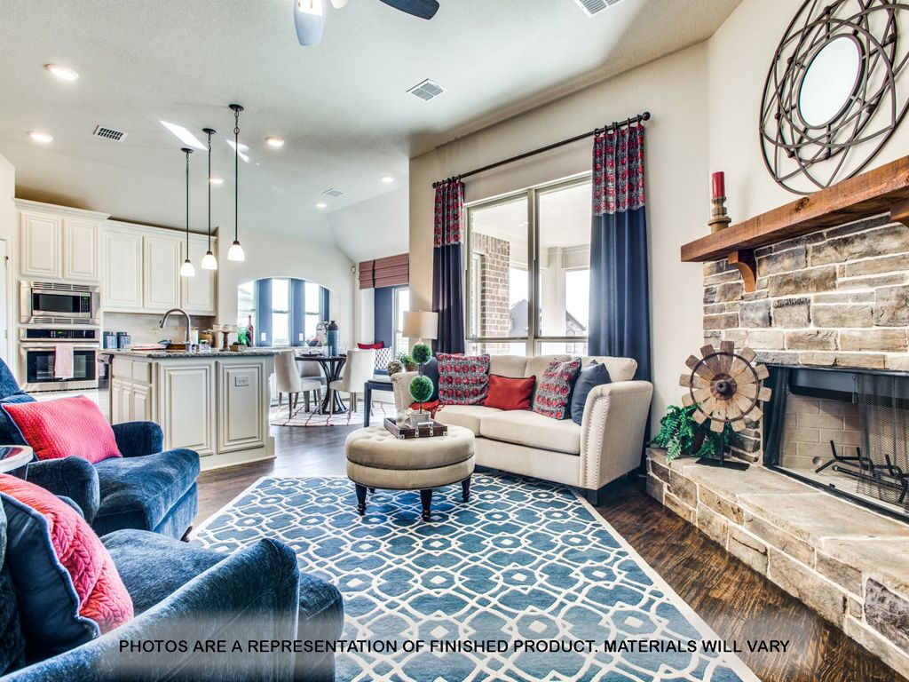Living Area featured in the Carolina By Bloomfield Homes in Dallas, TX