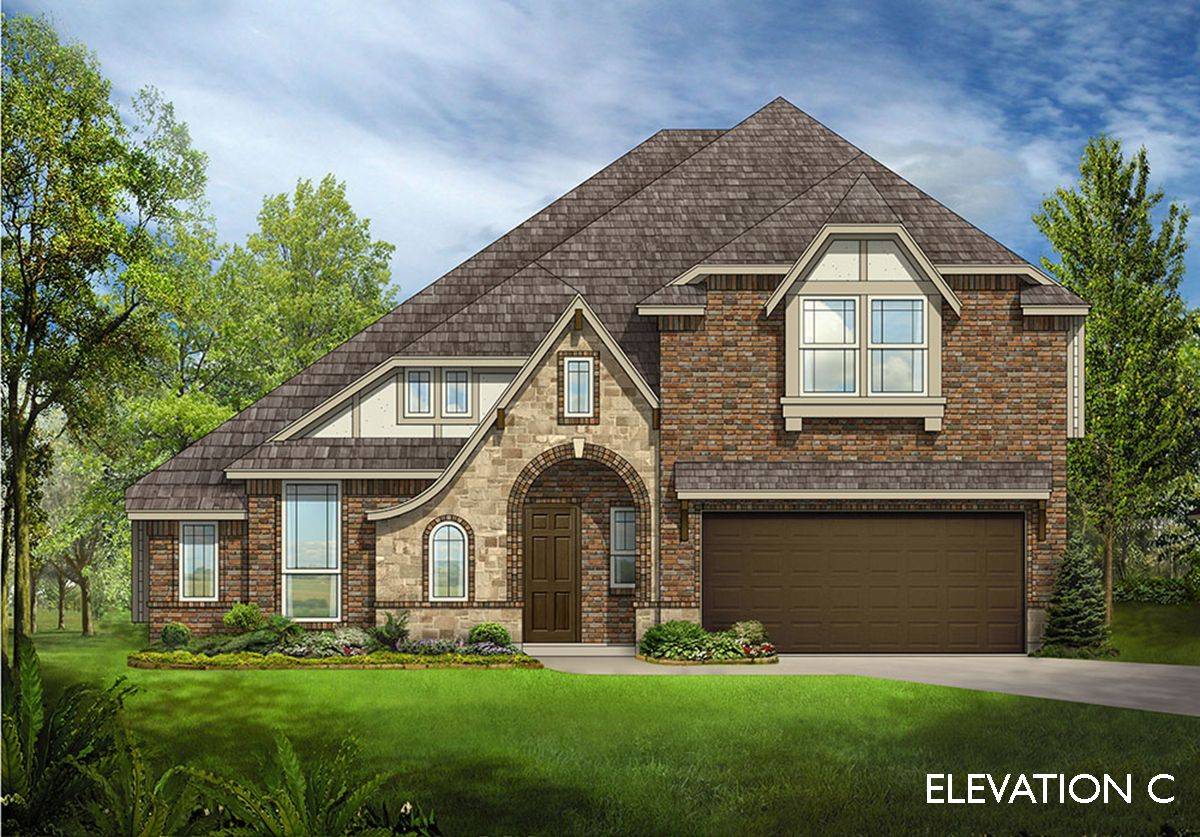 Exterior featured in the Carolina IV By Bloomfield Homes in Dallas, TX