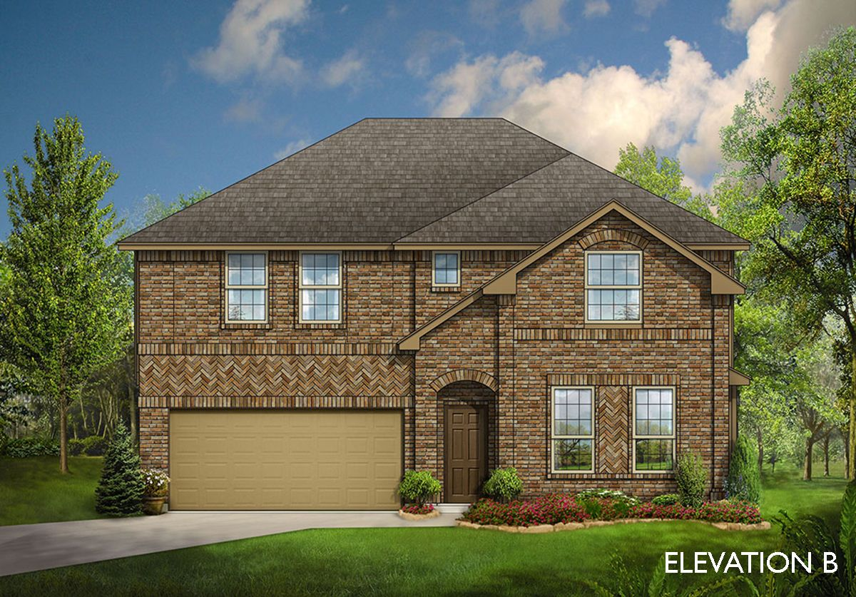 Exterior featured in the Gardenia By Bloomfield Homes in Fort Worth, TX