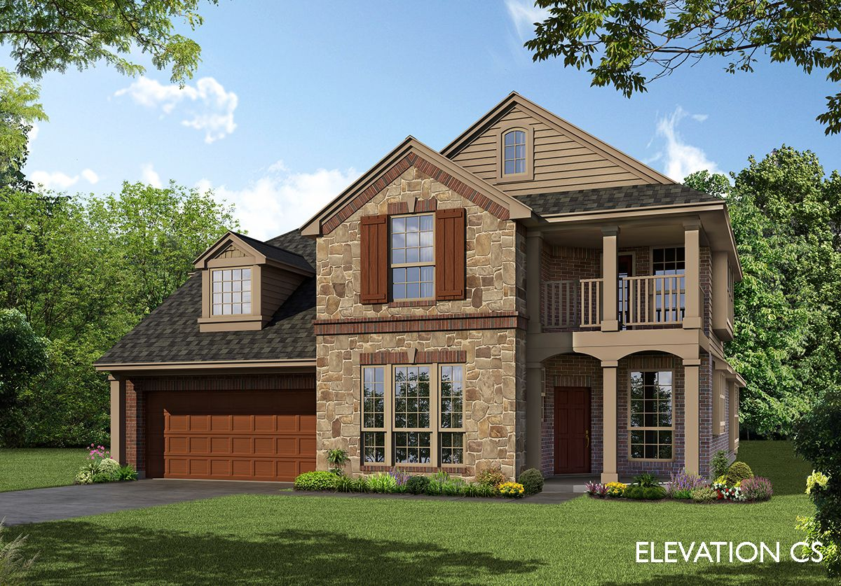 Exterior featured in the Magnolia By Bloomfield Homes in Fort Worth, TX