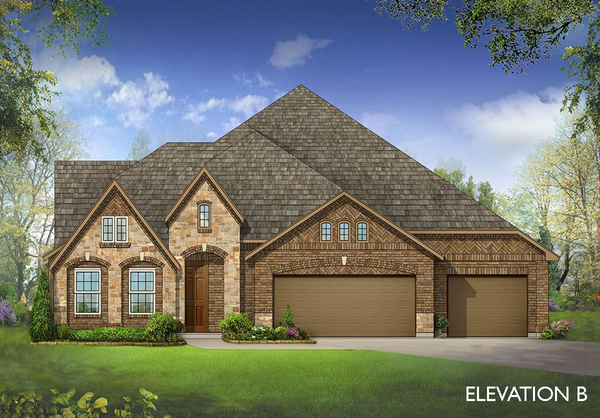 Exterior featured in the Primrose FE II  By Bloomfield Homes in Dallas, TX