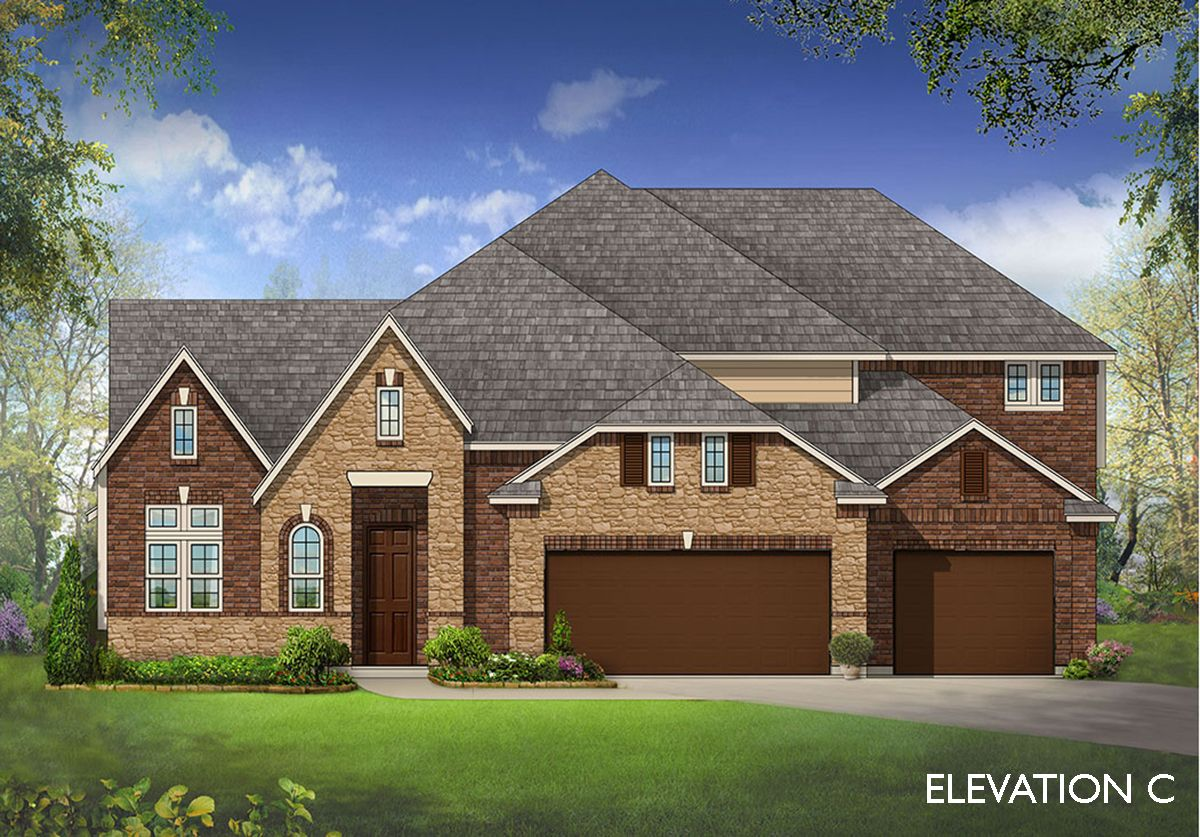Exterior featured in the Primrose FE III  By Bloomfield Homes in Dallas, TX