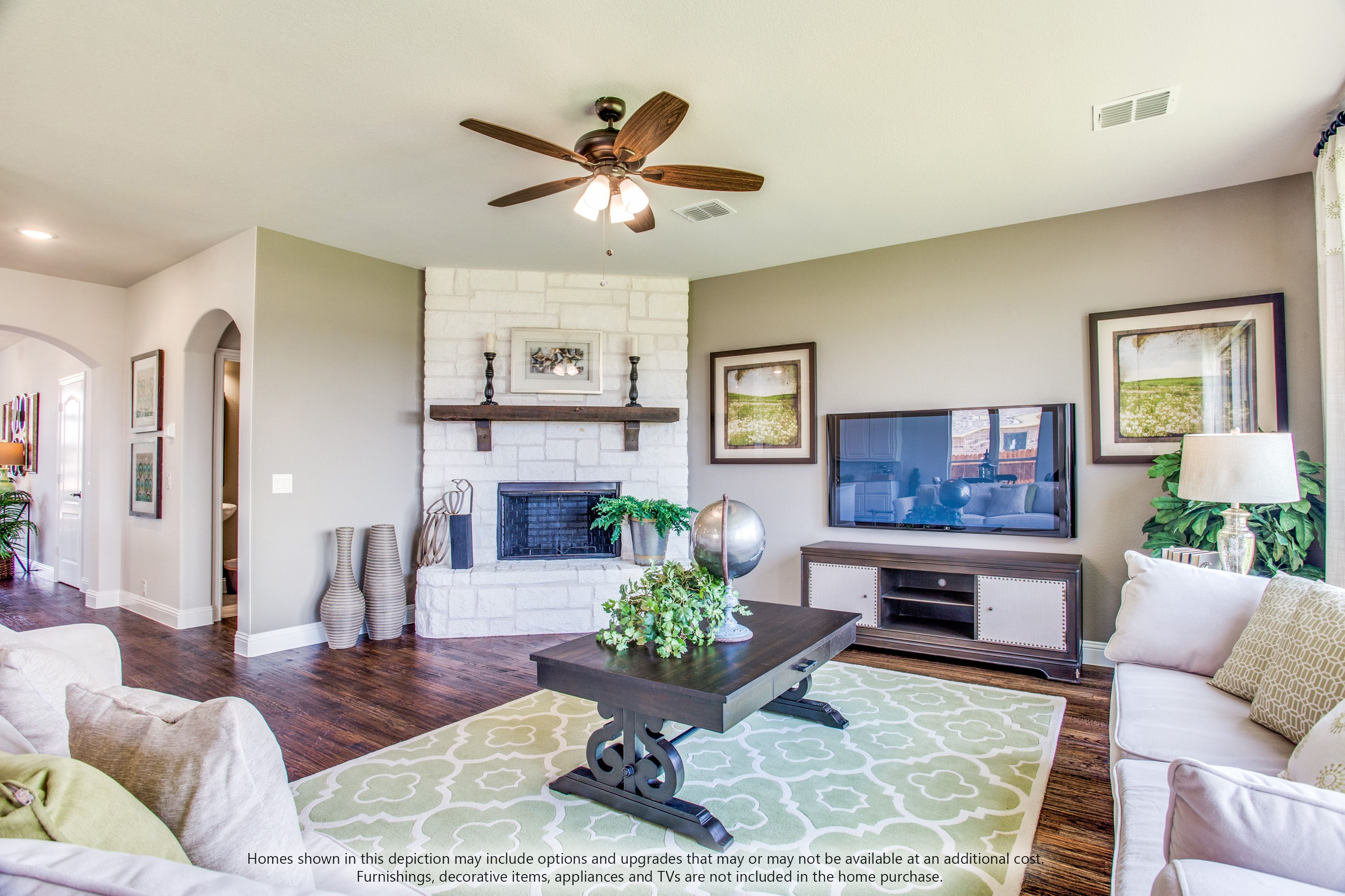 Living Area featured in the Dewberry II Side Entry By Bloomfield Homes in Dallas, TX