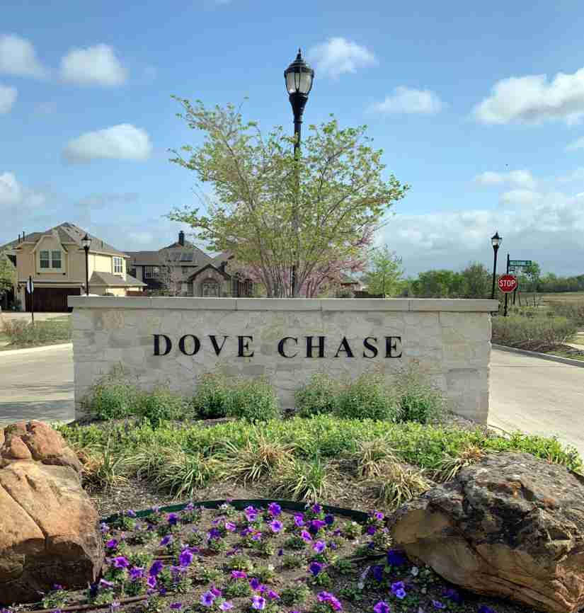 Dove Chase Sign