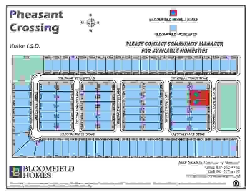 Lot Map of Pheasant Crossing