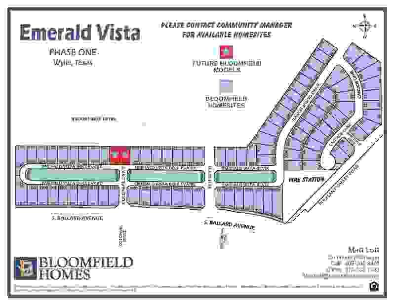 Emerald Vista Lot Map