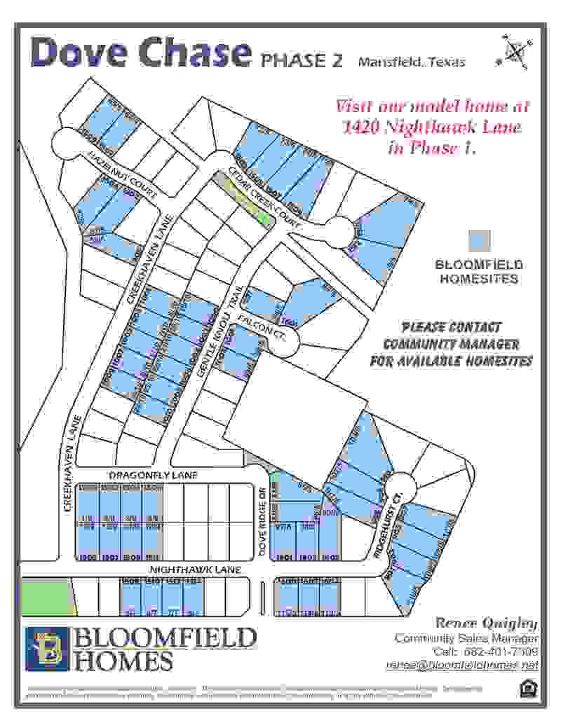 Dove Chase Lot Map