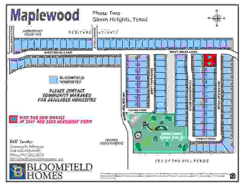 Maplewood Phase 2A Community Map