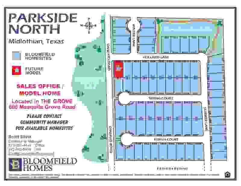 Parkside North Community Map