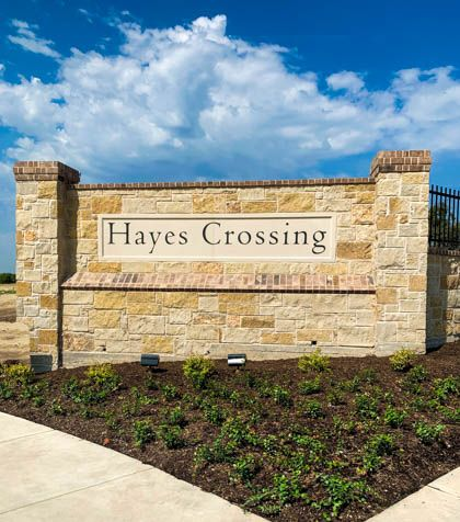 Hayes Crossing Entrance