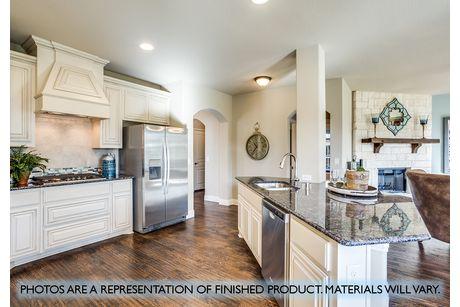 Kitchen-in-Dewberry III-at-Garden Valley-in-Waxahachie