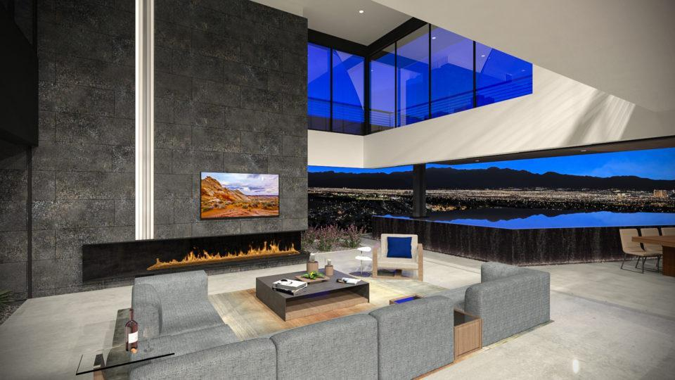 Living Area featured in the Zenith By Blue Heron in Las Vegas, NV