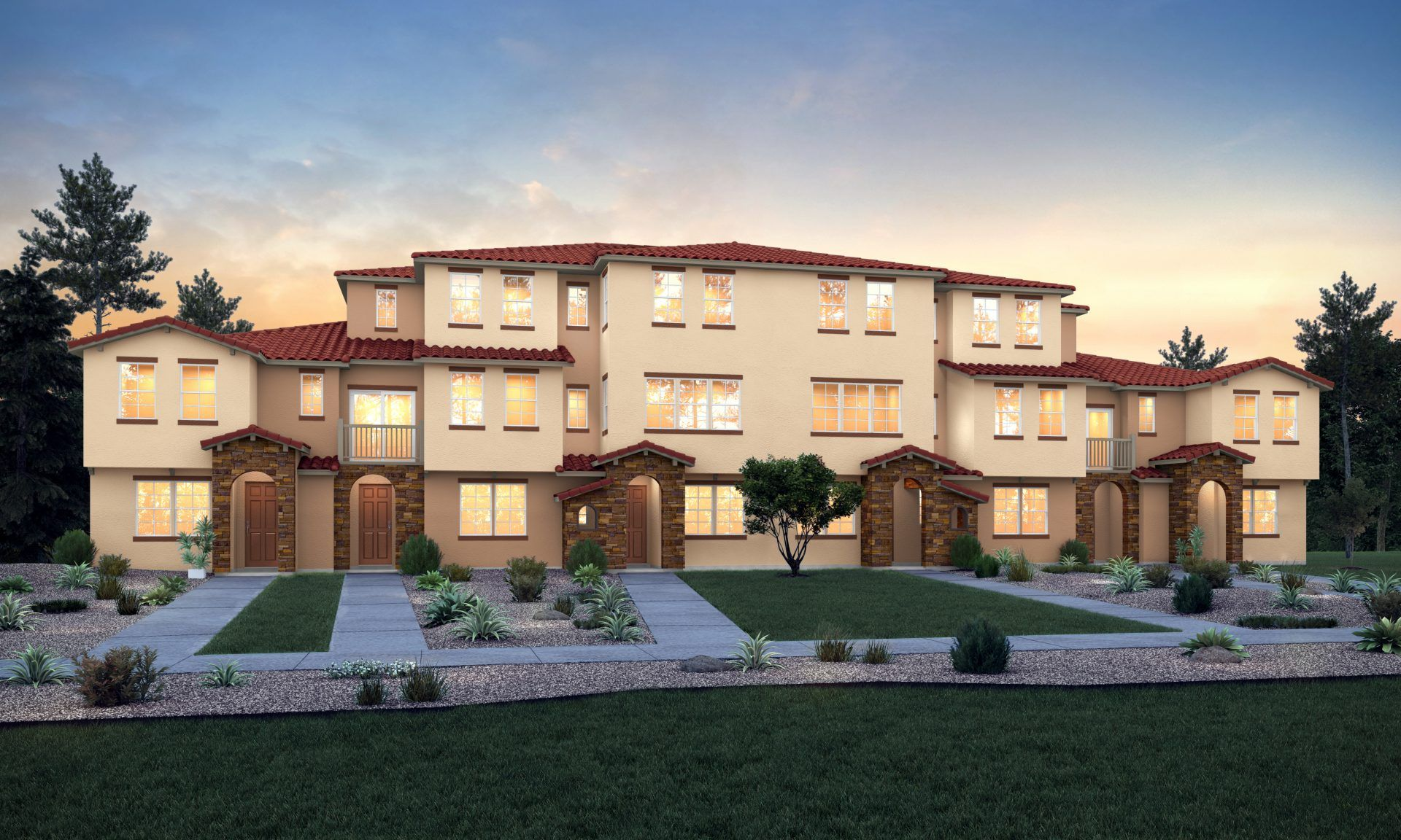 Exterior featured in the Plan C By Blue Mountain Communities in Sacramento, CA