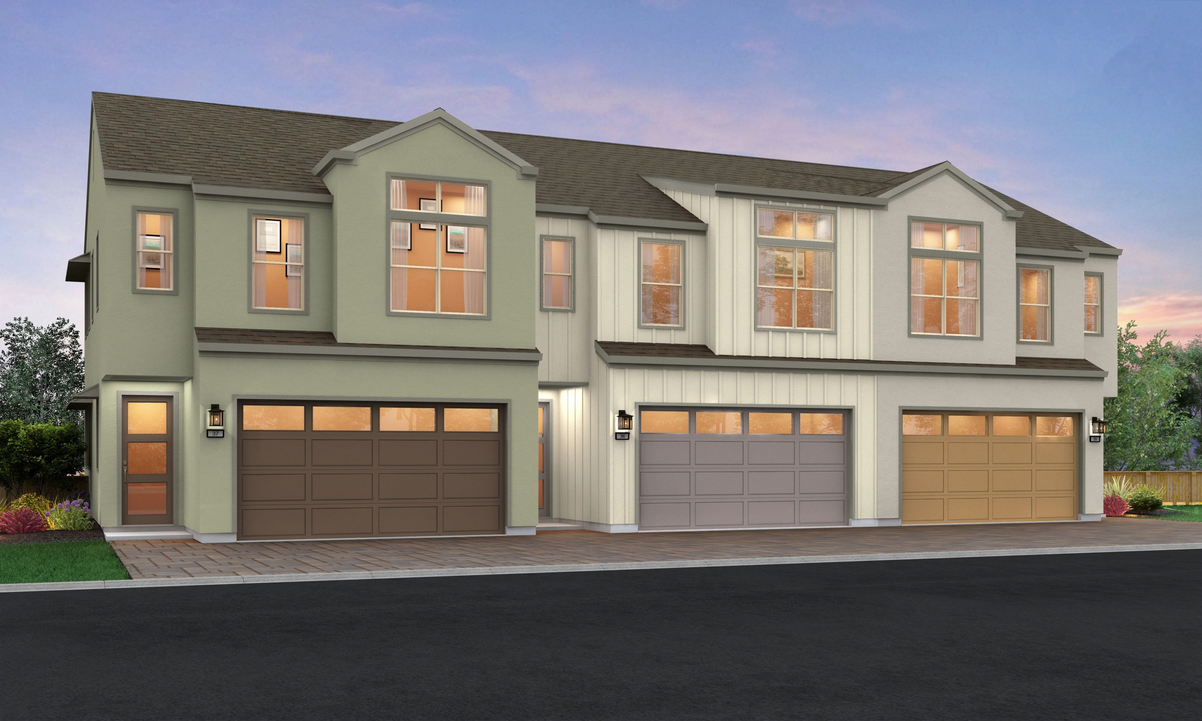 Exterior featured in the Plan D By Blue Mountain Communities in Santa Rosa, CA
