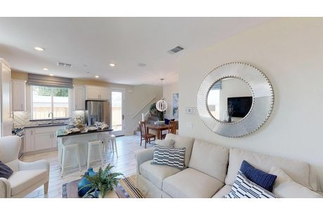 Greatroom-and-Dining-in-Plan 1-at-The Cottages-in-Hollister
