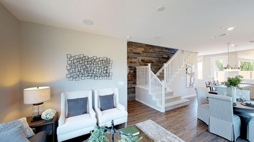 Greatroom-and-Dining-in-Plan 2-at-The Cottages-in-Hollister