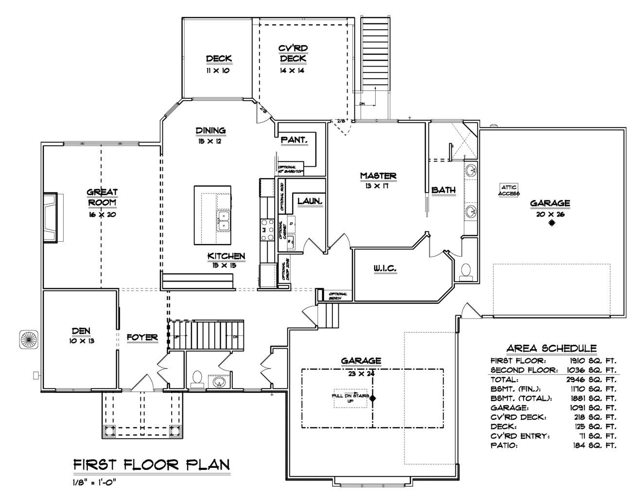 Living Area featured in the Plan 277 By Bob Buescher Homes in Fort Wayne, IN