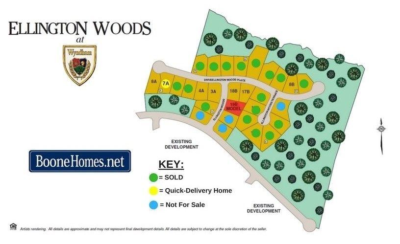 Ellington Woods Community Map
