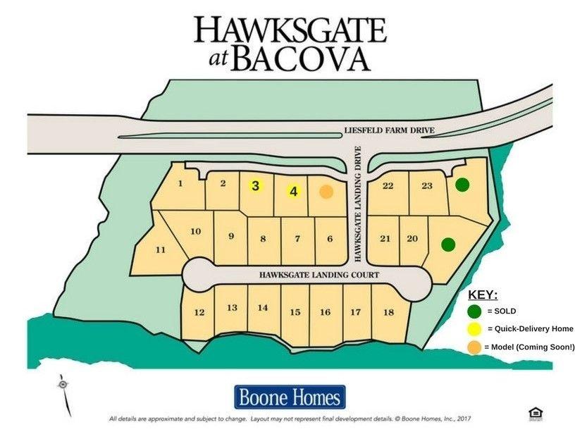 Hawksgate Community Map