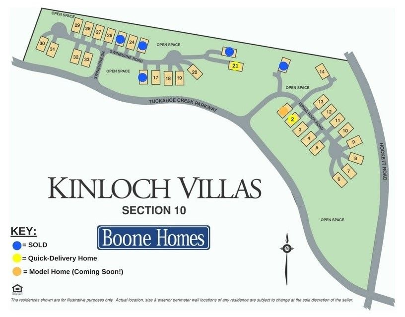 Kinloch Villas Community Map