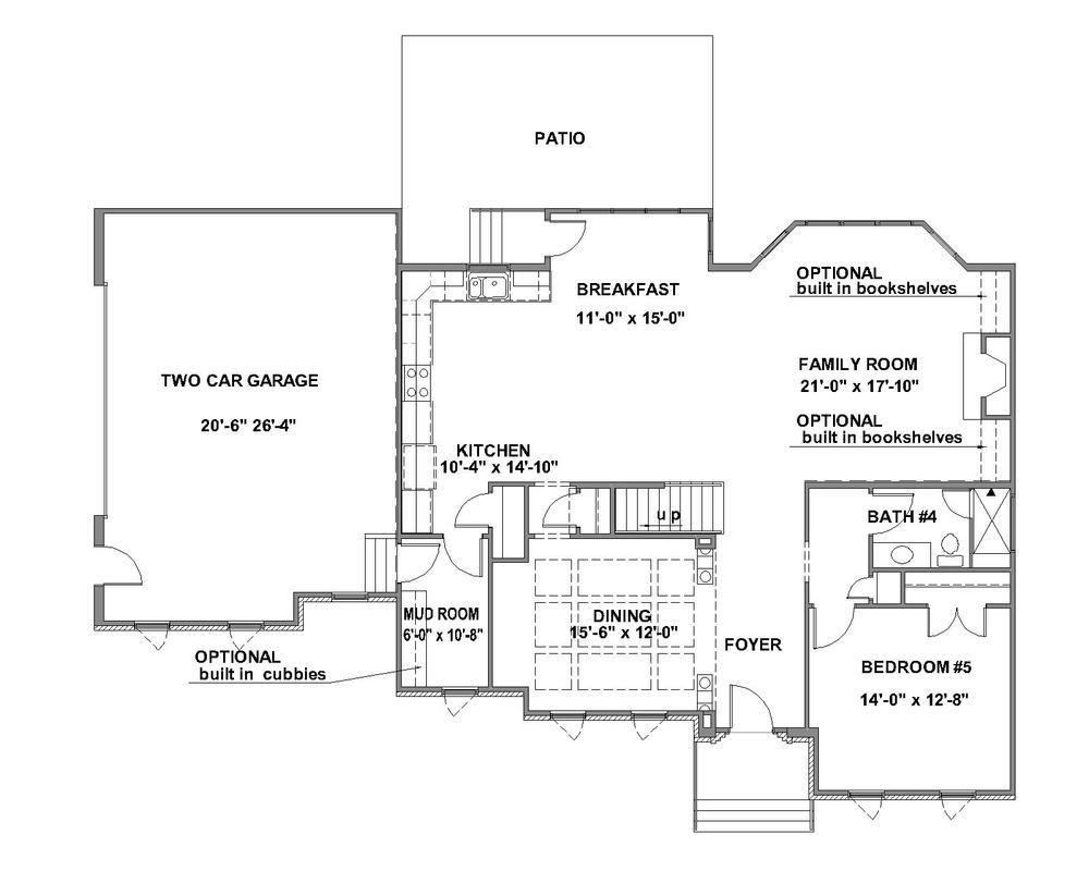 Pinnacle Standard First Floor Plan
