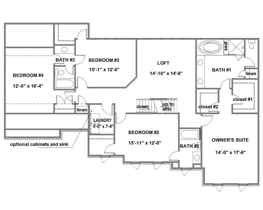 Pinnacle Standard Second Floor Plan