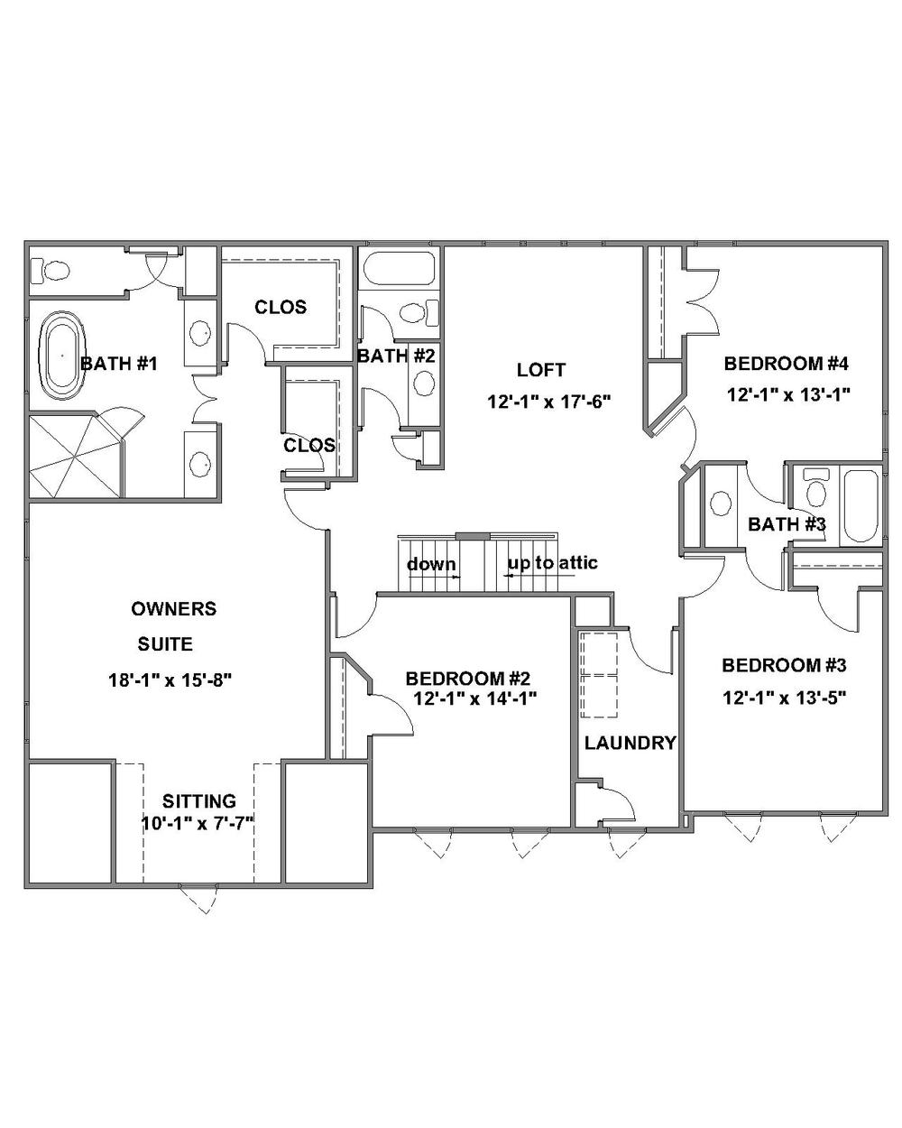Barclay Standard Second Floor Plan
