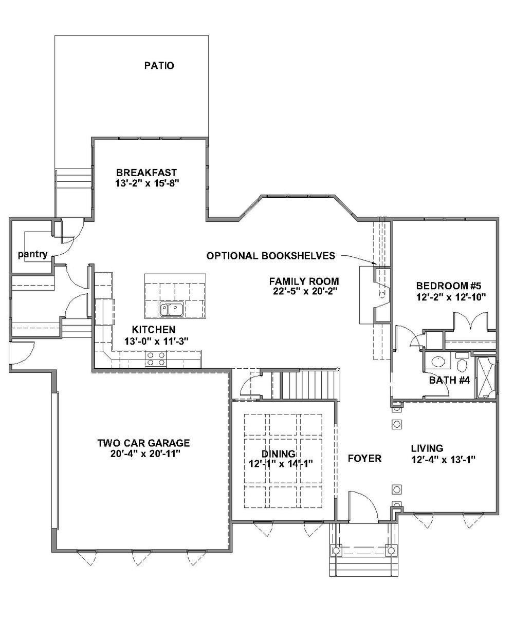 Barclay Standard First Floor Plan