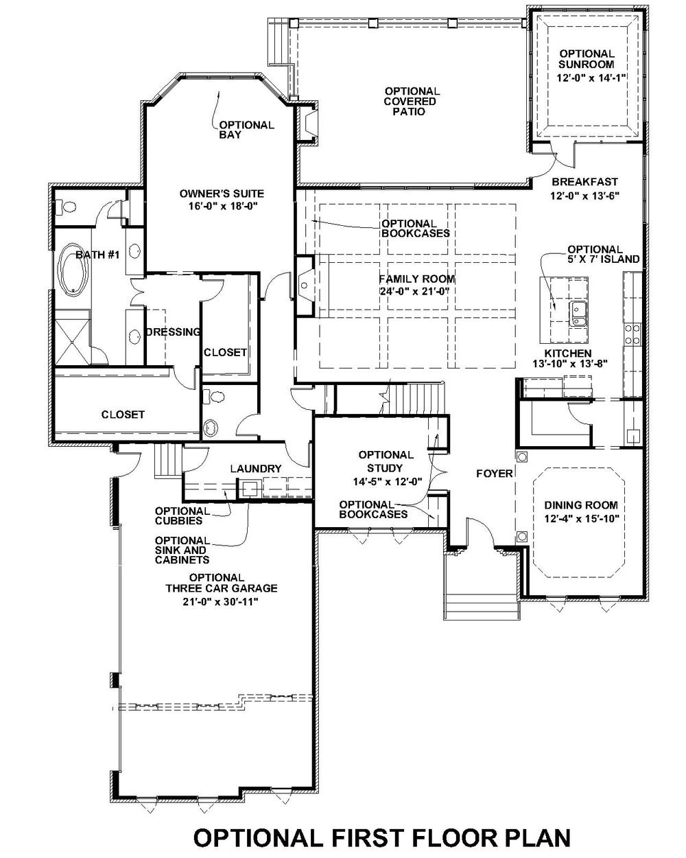 Lochbriar Optional First Floor Plan 1