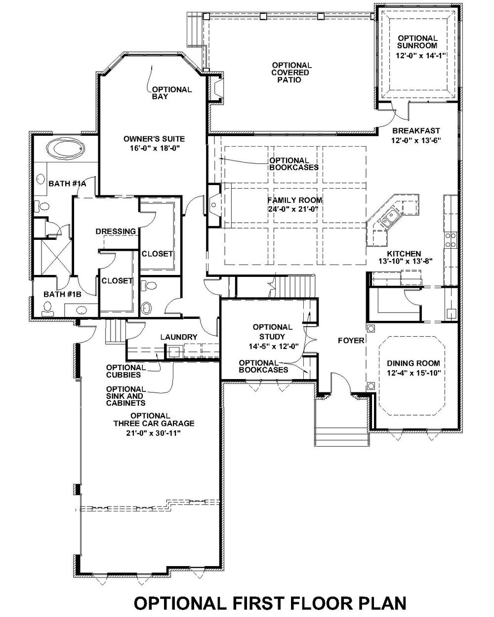 Lochbriar Optional First Floor Plan 2