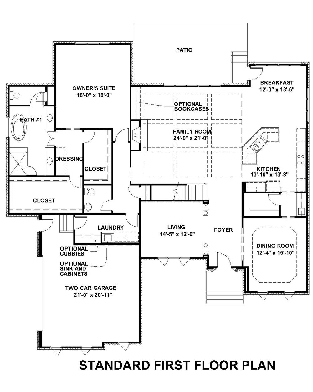 Lochbriar Standard First Floor Plan