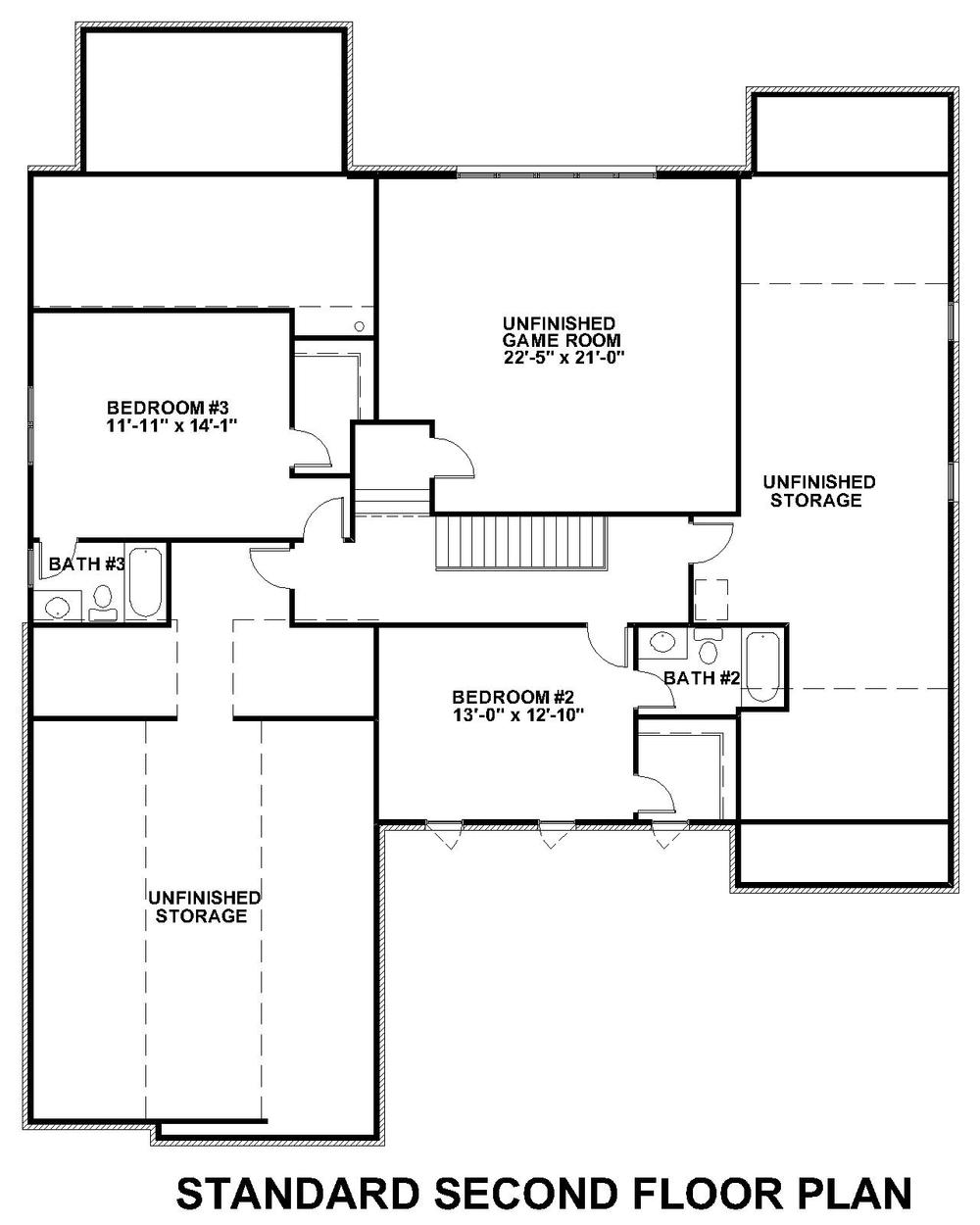 Lochbriar II Standard Second Floor Plan