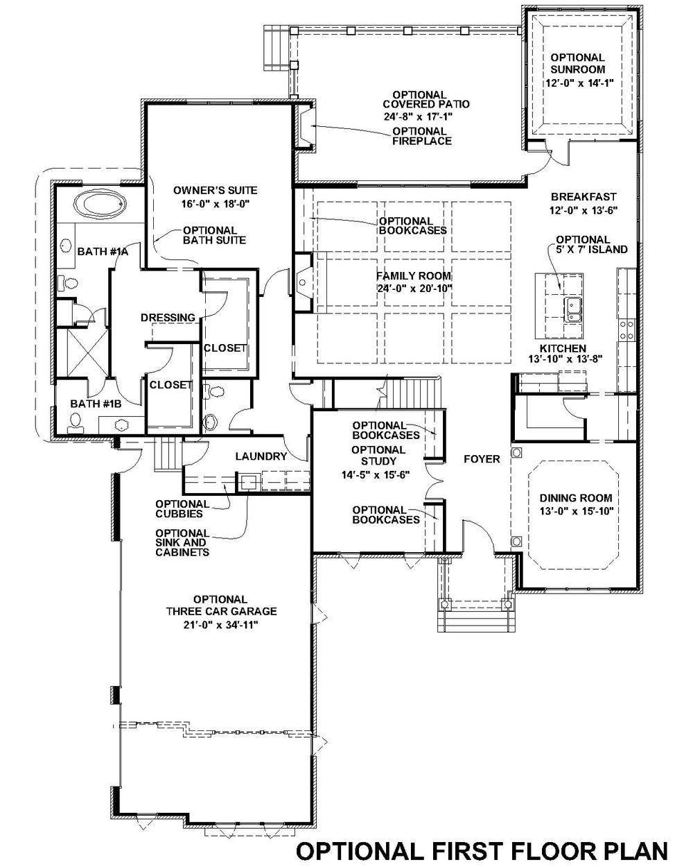Lochbriar II Optional First Floor Plan