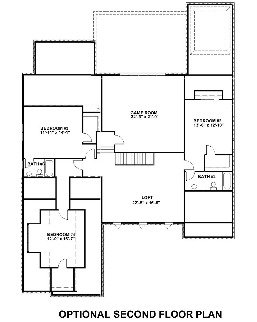 Lochbriar II Optional Second Floor Plan