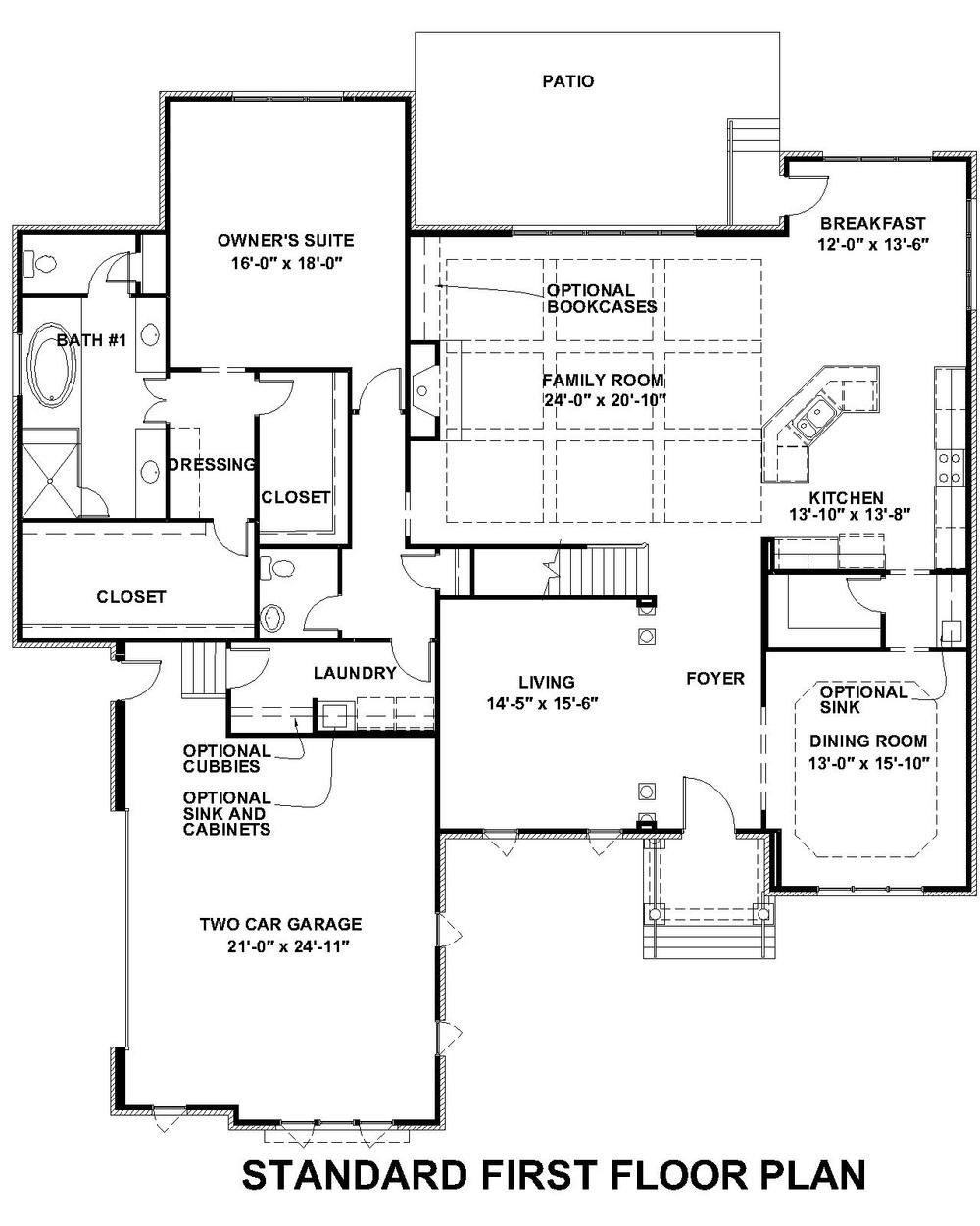 Lochbriar II Standard First Floor Plan