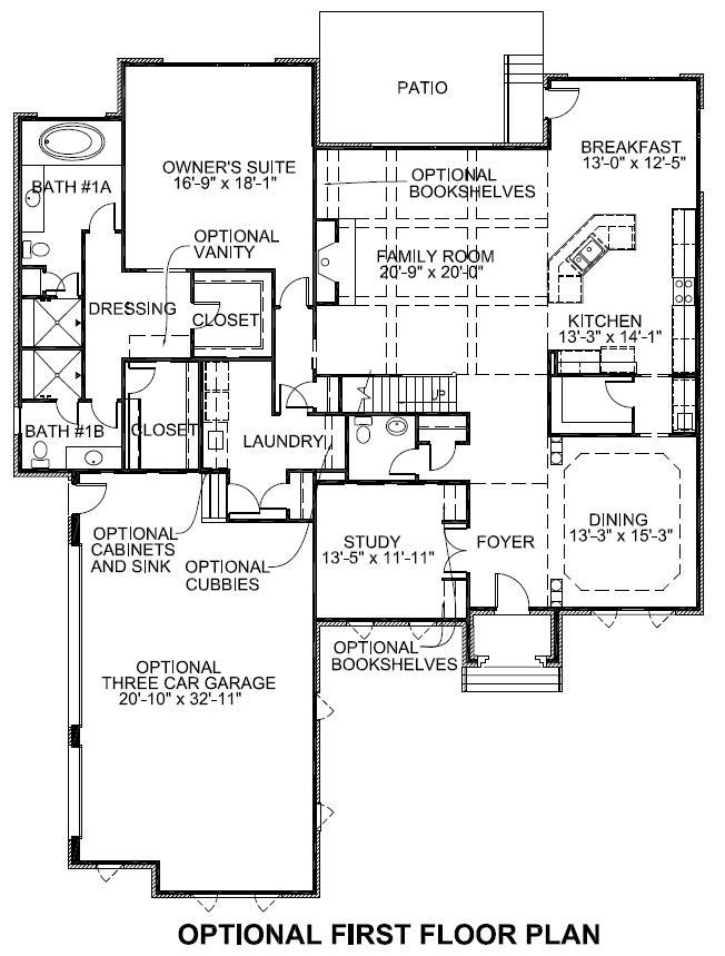 Sedgebrook Optional First Floor Plan
