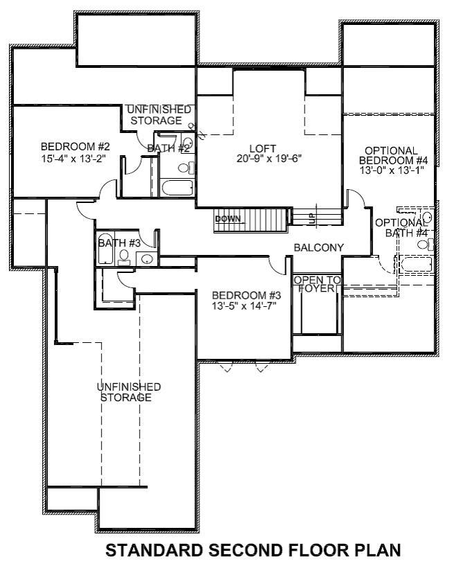 Sedgebrook Standard Second Floor Plan