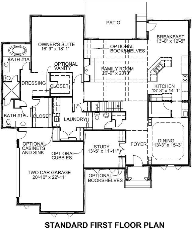 Sedgebrook Standard First Floor Plan