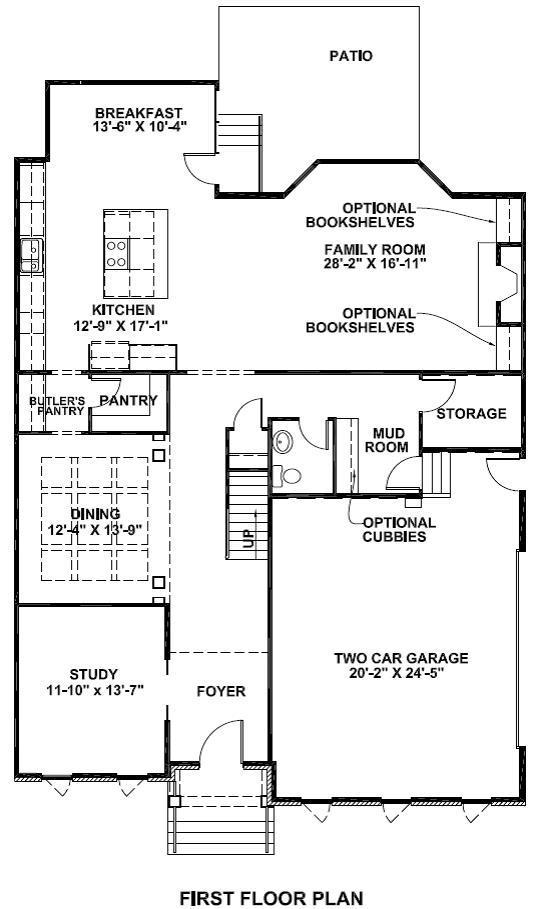 Brookstone II Standard First Floor Plan