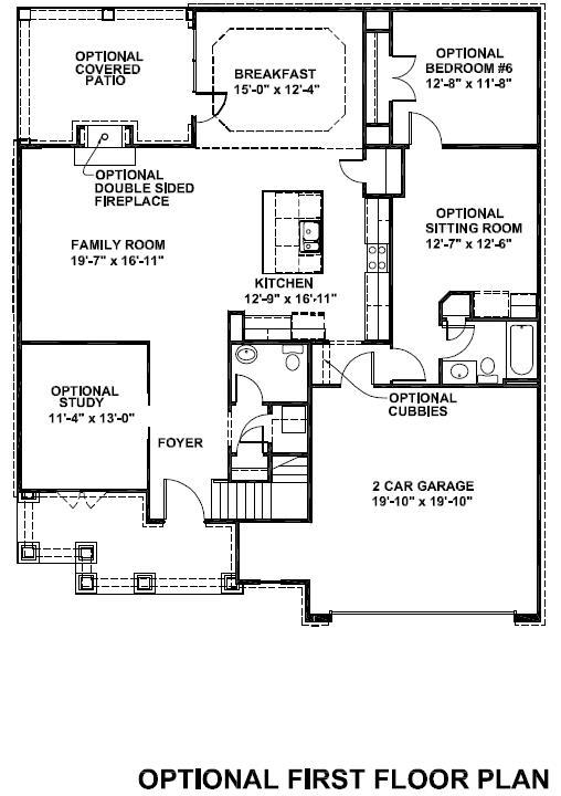 Siena optional first floor plan