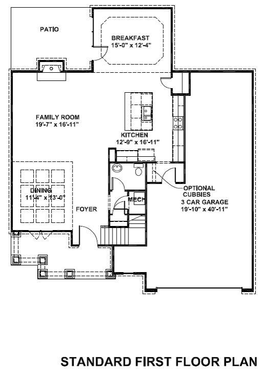 Siena standard first floor plan