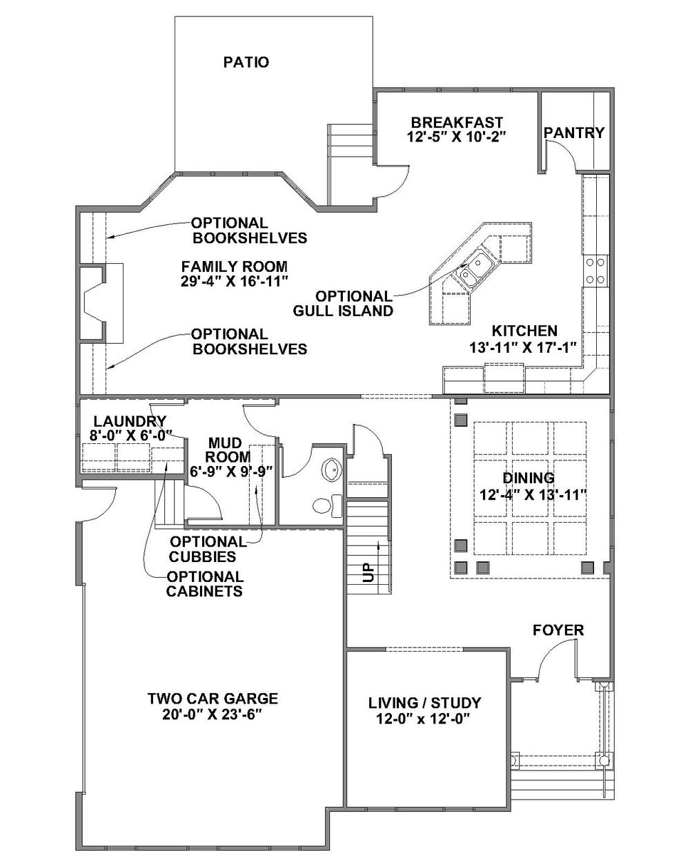 Brookstone standard first floor plan