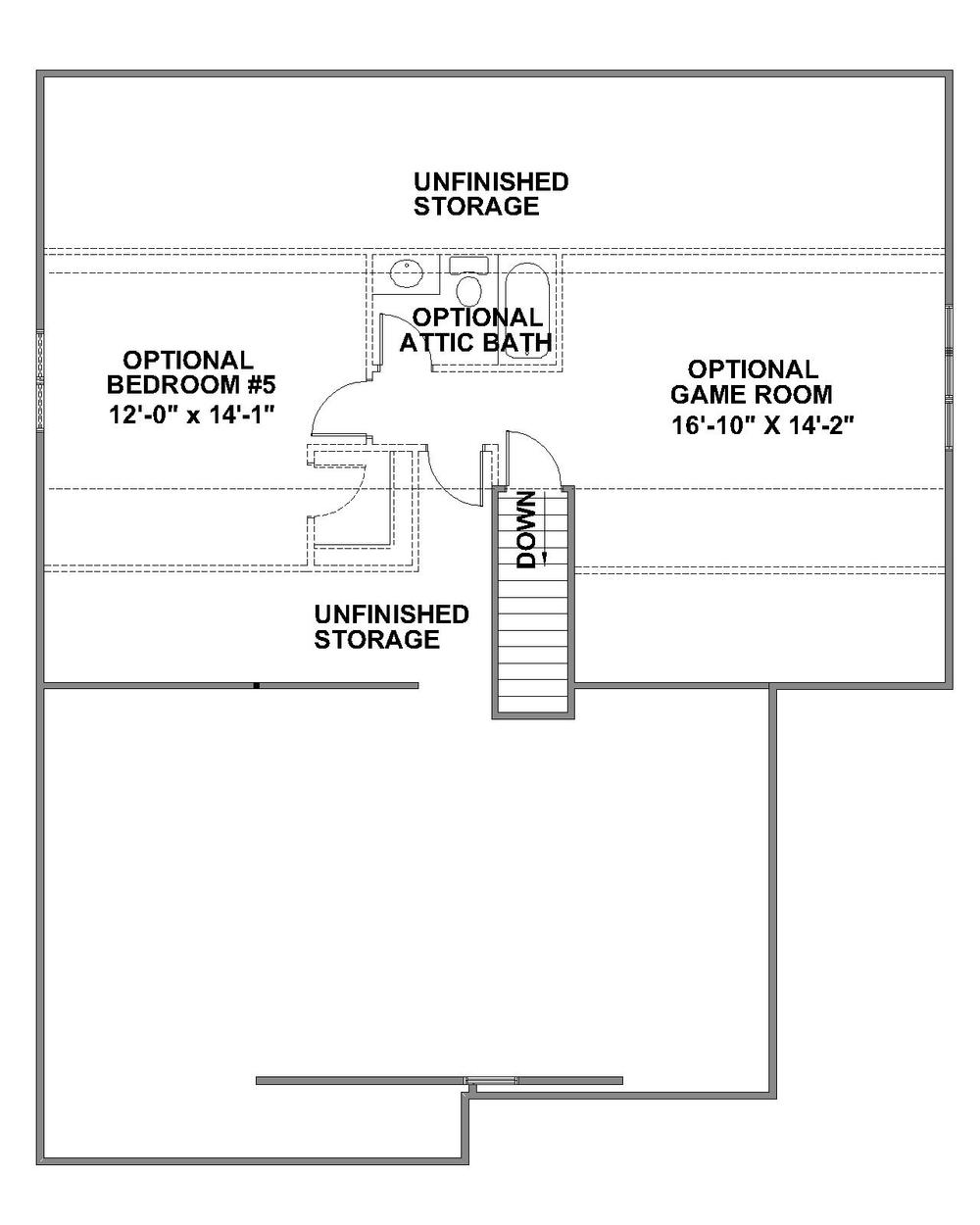 Brookstone optional third floor plan