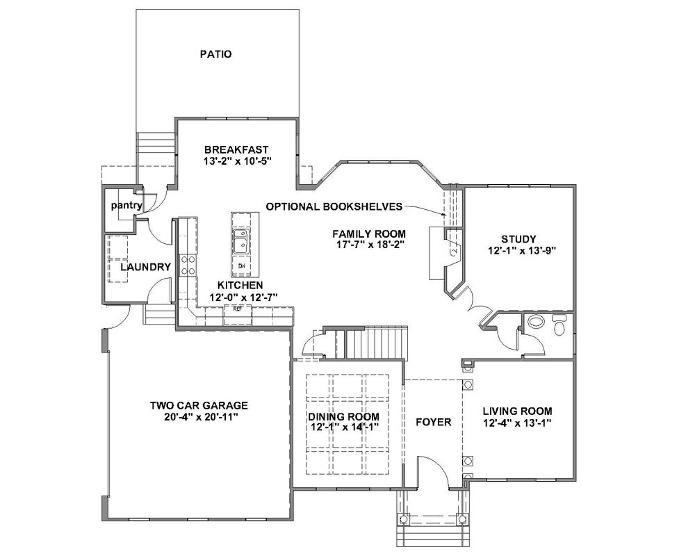 Creeksted standard first floor plan