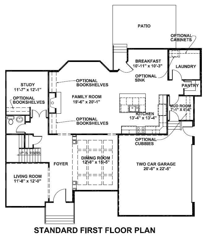 Waterhaven standard first floor plan