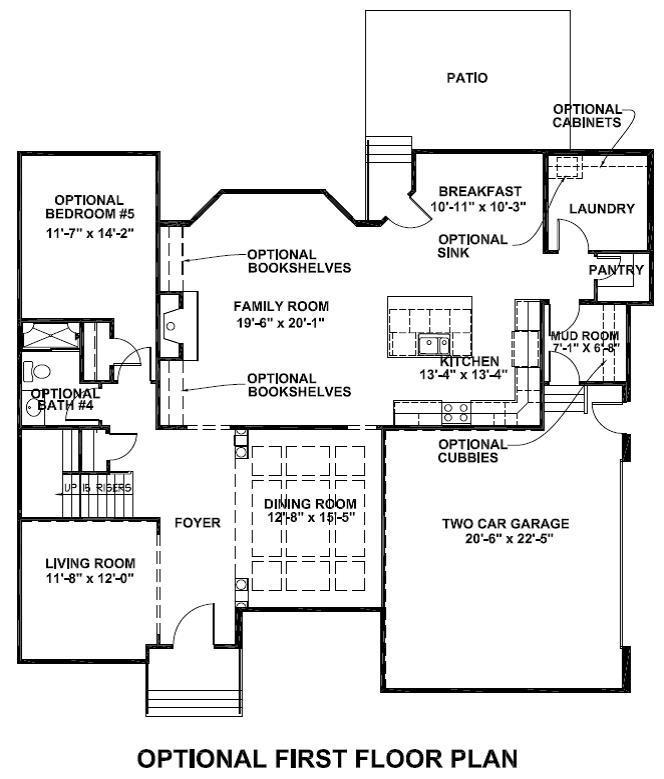 Waterhaven optional first floor plan