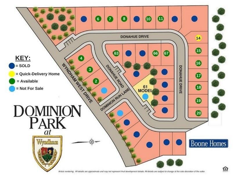 Dominion Park Lot Map