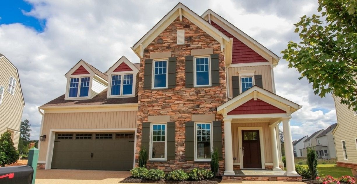 Exterior featured in the Heatherglen By Boone Homes, Inc. in Richmond-Petersburg, VA