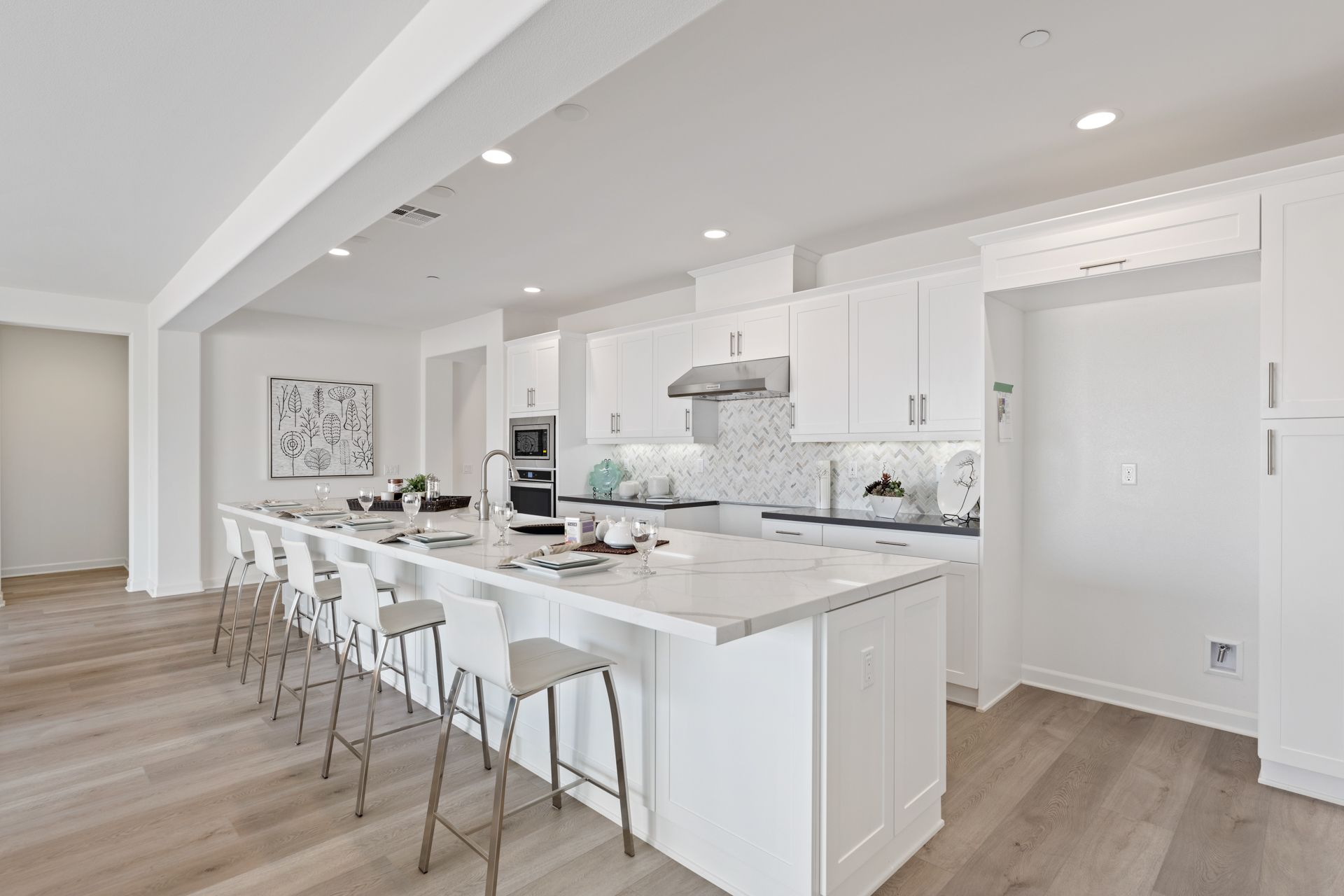 Kitchen featured in the Plan 1 By Brandywine Homes in Los Angeles, CA